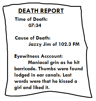 death report after listening to Katy Perry on Radio