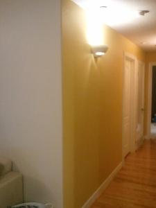 Halfway painted hallway