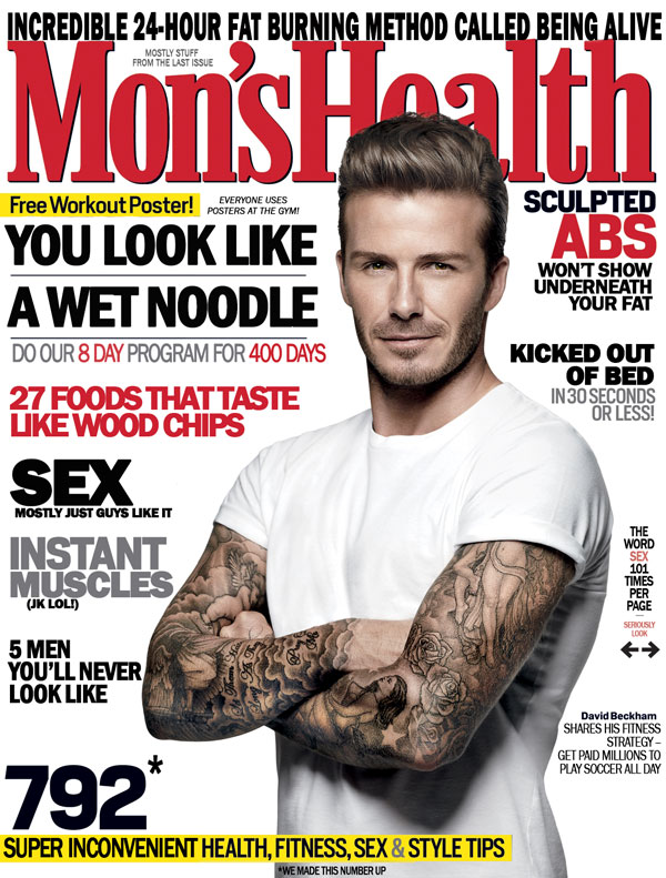 The truth about men's fitness magazines
